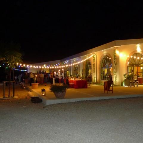 Terrasse orangerie nuit